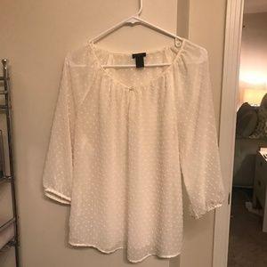 Ann Taylor sheer white blouse